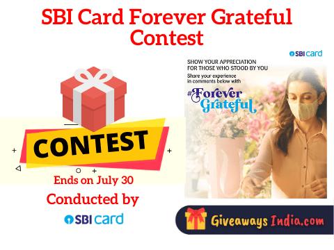 SBI Card Forever Grateful Contest