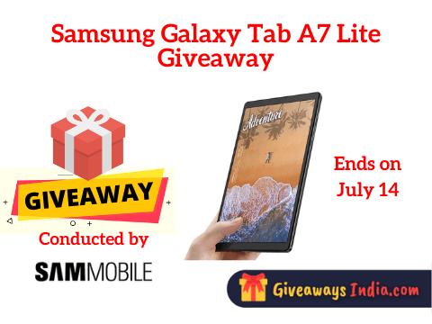 Samsung Galaxy Tab A7 Lite Giveaway