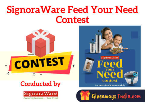 SignoraWare Feed Your Need Contest