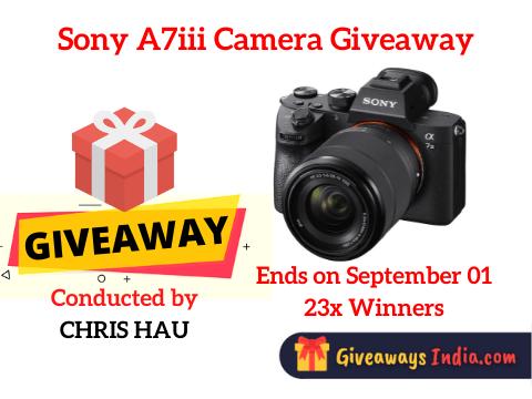 Sony A7iii Camera Giveaway