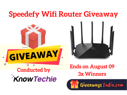 Speedefy Wifi Router Giveaway