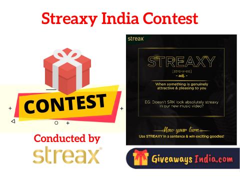 Streaxy India Contest