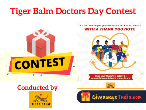 Tiger Balm Doctors Day Contest
