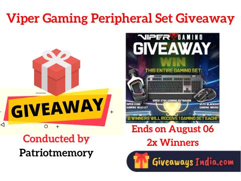 Viper Gaming Peripheral Set Giveaway