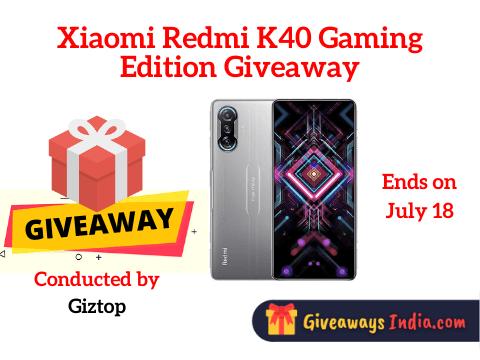 Xiaomi Redmi K40 Gaming Edition Giveaway