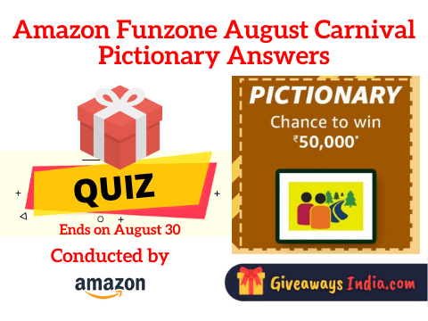 Amazon August Carnival Pictionary Answers