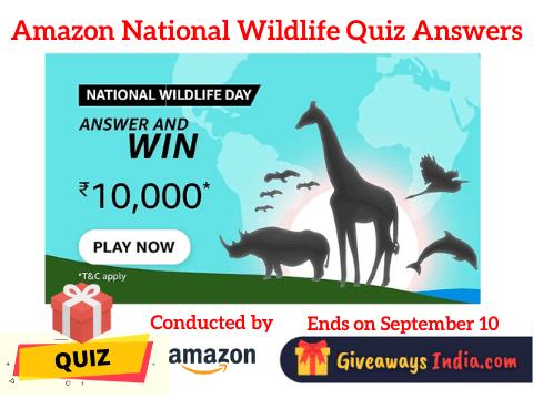 Amazon National Wildlife Quiz Answers