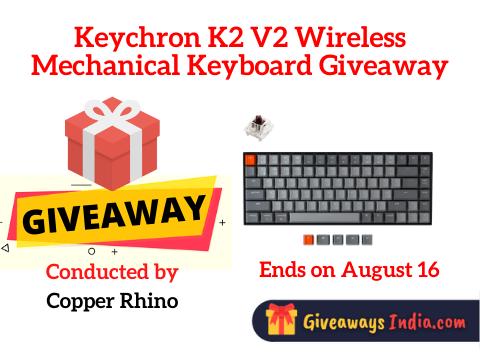 Keychron K2 V2 Wireless Mechanical Keyboard Giveaway
