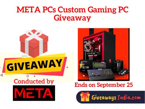META PCs Custom Gaming PC Giveaway