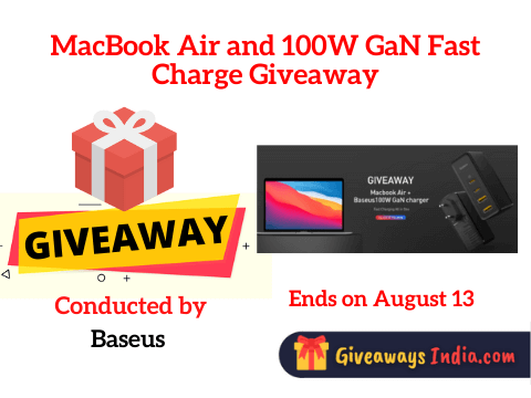MacBook Air and 100W GaN Fast Charge Giveaway