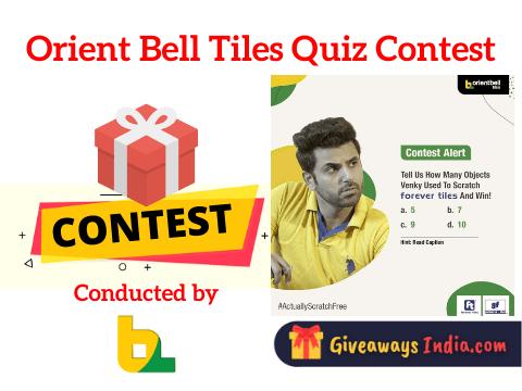 Orient Bell Tiles Quiz Contest