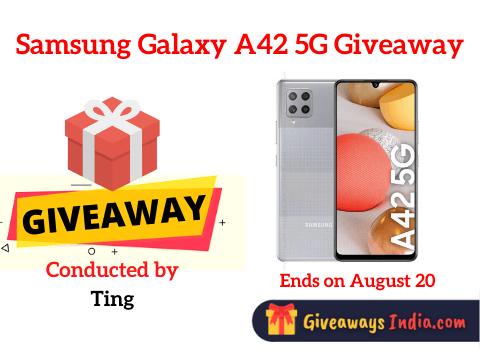 Samsung Galaxy A42 5G Giveaway