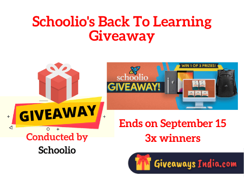 Schoolio's Back To Learning Giveaway