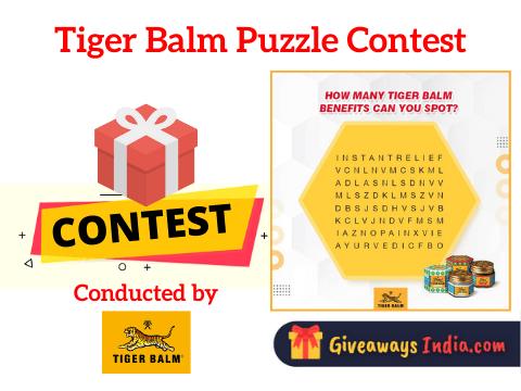 Tiger Balm Puzzle Contest