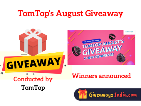 TomTop's August Giveaway