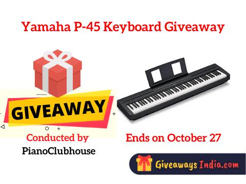 Yamaha P-45 Keyboard Giveaway