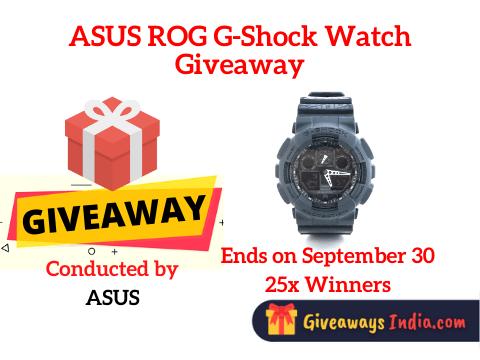 ASUS ROG G-Shock Watch Giveaway