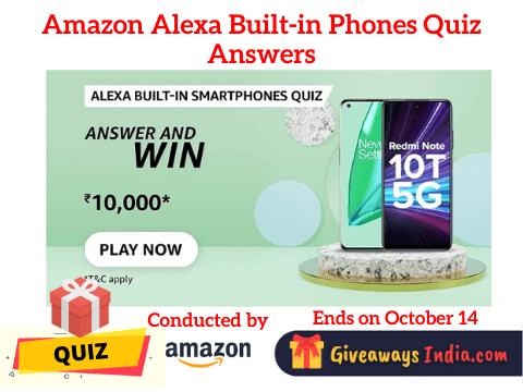 Amazon Alexa Built-in Phones Quiz Answers