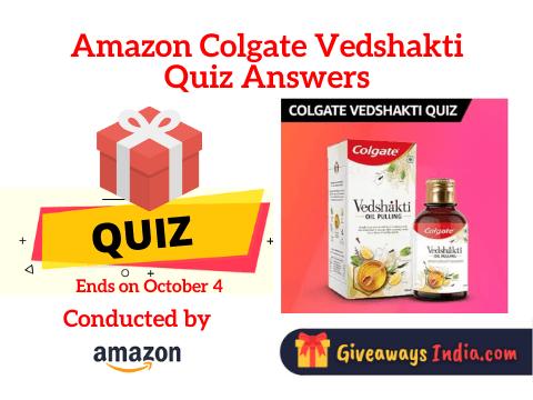 Amazon Colgate Vedshakti Quiz Answers