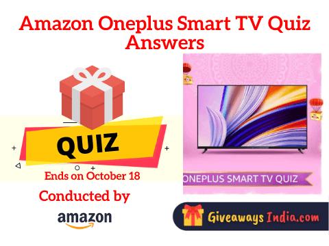 Amazon Oneplus Smart TV Quiz Answers