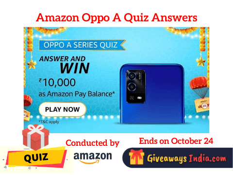 Amazon Oppo A Series Quiz Answers