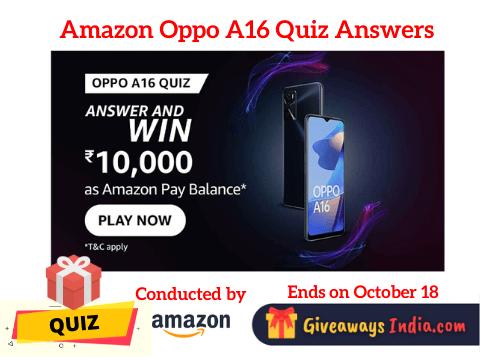Amazon Oppo A16 Quiz Answers