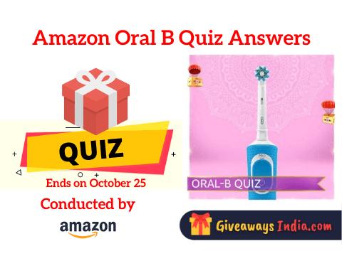 Amazon Oral B Quiz Answers