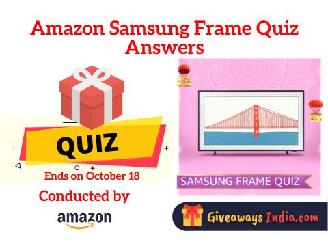 Amazon Samsung Frame Quiz Answers