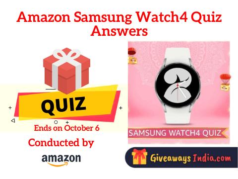 Amazon Samsung Watch4 Quiz Answers