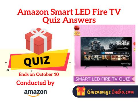 Amazon Smart LED Fire TV Quiz Answers