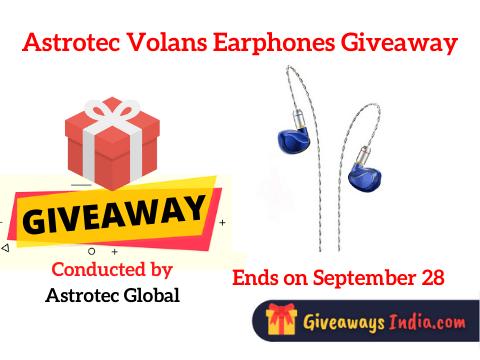 Astrotec Volans Earphones Giveaway