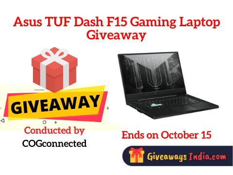 Asus TUF Dash F15 Gaming Laptop Giveaway