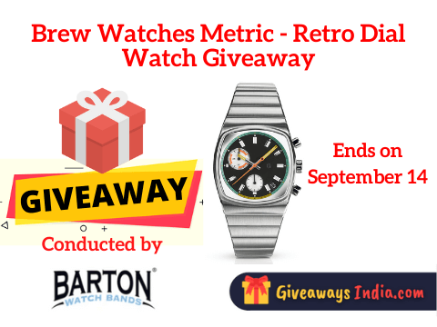 Brew Watches Metric - Retro Dial Watch Giveaway