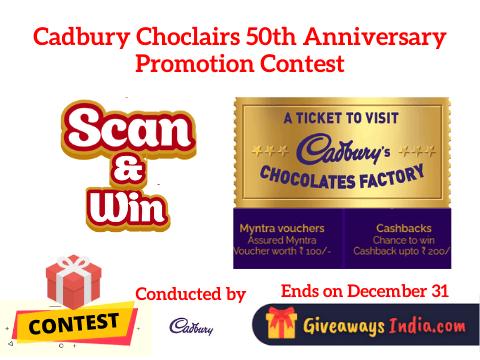 Cadbury Choclairs 50th Anniversary Promotion Contest