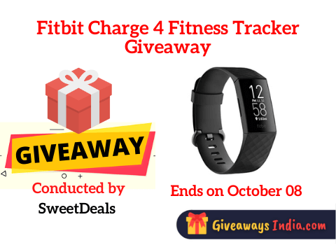 Fitbit Charge 4 Fitness Tracker Giveaway