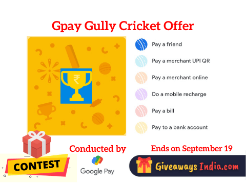 Gpay Gully Cricket Offer