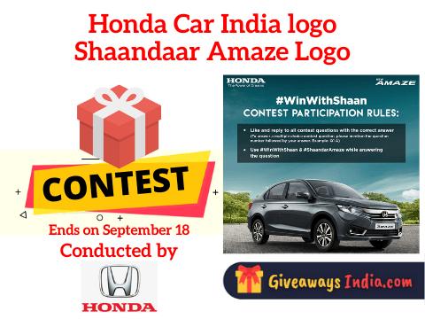 Honda Car India logo Shaandaar Amaze Contest