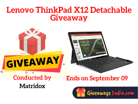Lenovo ThinkPad X12 Detachable Giveaway