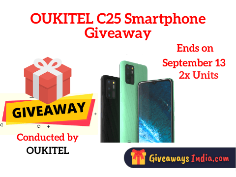OUKITEL C25 Smartphone Giveaway