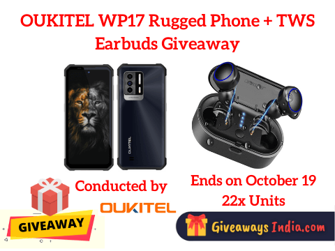 OUKITEL WP17 Rugged Phone + TWS Earbuds Giveaway