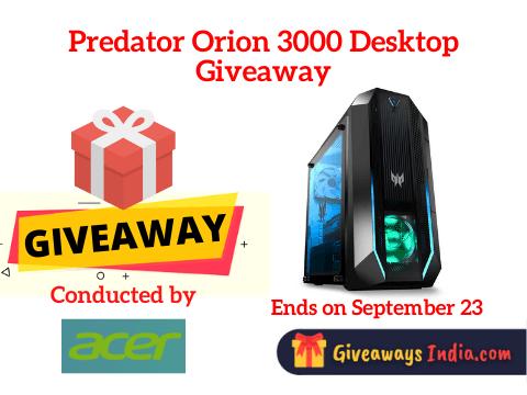Predator Orion 3000 Desktop Giveaway