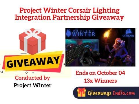 Project Winter Corsair Lighting Integration Partnership Giveaway