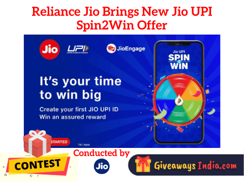 Reliance Jio New Jio UPI Spin2Win Offer