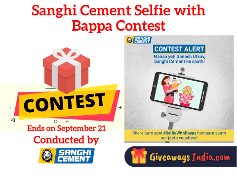 Sanghi Cement Selfie with Bappa Contest