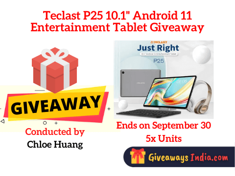 Teclast P25 10.1'' Android 11 Entertainment Tablet Giveaway