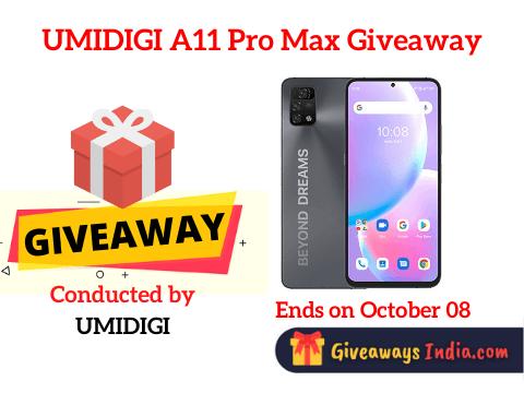 UMIDIGI A11 Pro Max Giveaway