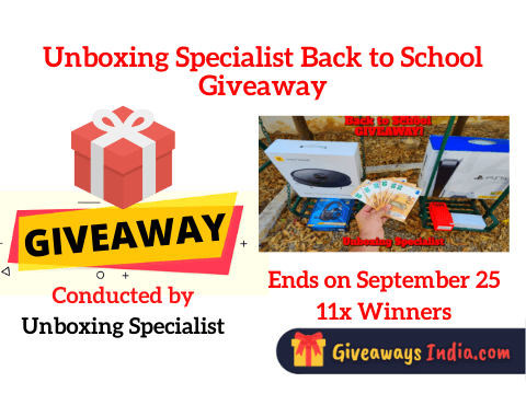 Unboxing Specialist Back to School Giveaway
