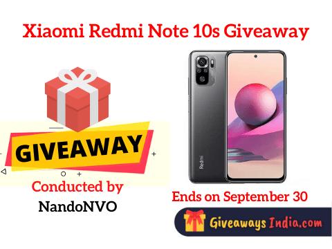 Xiaomi Redmi Note 10s Giveaway