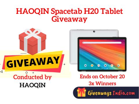 HAOQIN Spacetab H20 Tablet Giveaway