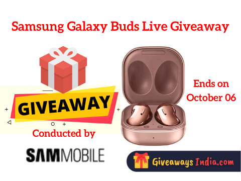 Samsung Galaxy Buds Live Giveaway
